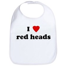 I Love red heads Bib