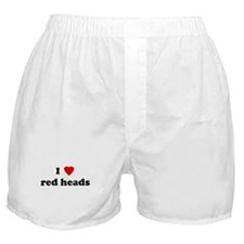 I Love red heads Boxer Shorts
