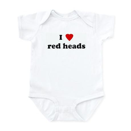 I Love red heads Infant Bodysuit