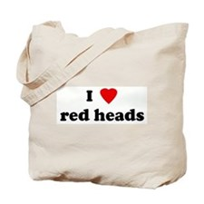 I Love red heads Tote Bag