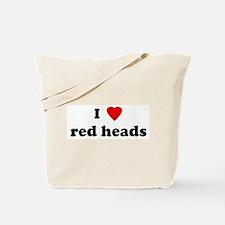 I Love red heads Tote Bag