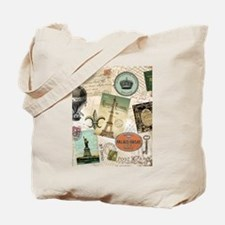 Vintage Travel collage Tote Bag