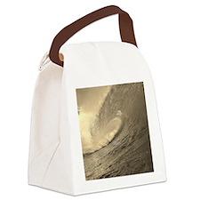 Ocean Wave Canvas Lunch Bag
