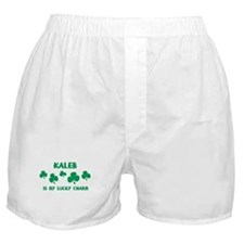 Kaleb is my lucky charm Boxer Shorts