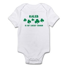 Kaleb is my lucky charm Infant Bodysuit