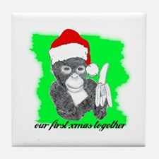 OUR FIRST XMAS TOGETHER Tile Coaster