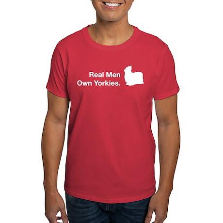 Real Men Own Yorkies Dark T-Shirt