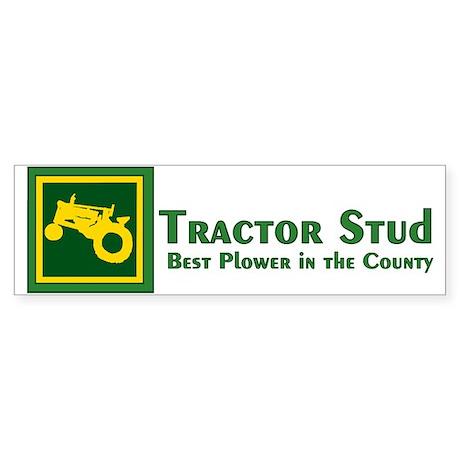 JD Tractor Stud Bumper Sticker