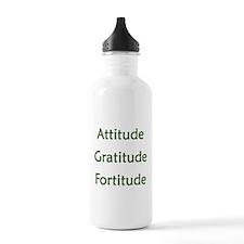 Attitude, Gratitude, Fortitude Water Bottle