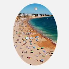Albufeira beach Oval Ornament