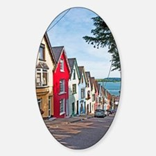 Cobh houses Sticker (Oval)