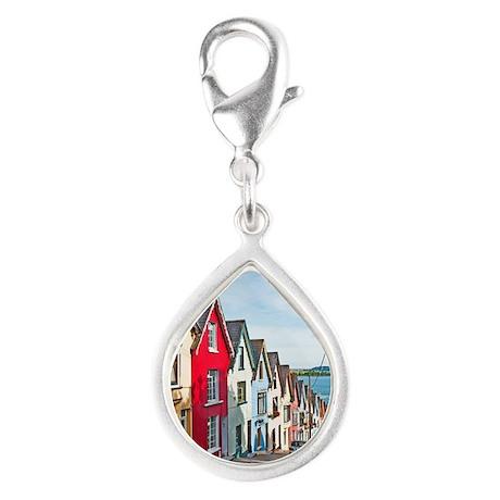 Cobh houses Silver Teardrop Charm