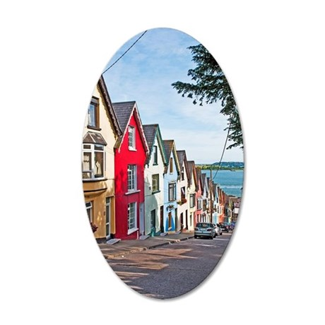Cobh houses 35x21 Oval Wall Decal