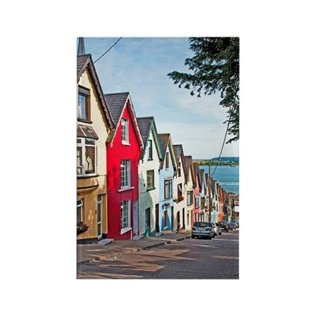 Cobh houses Rectangle Magnet