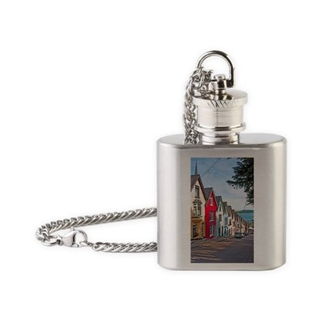 Cobh houses Flask Necklace