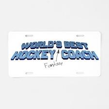 Worlds Best Fantasy Hockey Coach Aluminum License