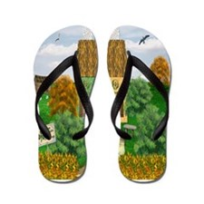 St Patricks Day Cottage Flip Flops