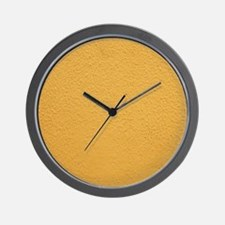 Yellow wall Wall Clock