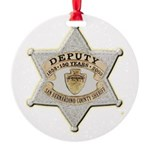 San Bernardino Sheriff Anniversary Badge Ornament