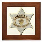 San Bernardino Sheriff Anniversary Badge Framed Ti