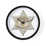 San Bernardino Sheriff Anniversary Badge Wall Cloc