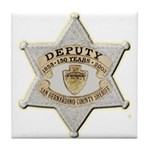 San Bernardino Sheriff Anniversary Badge Tile Coas