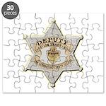 San Bernardino Sheriff Anniversary Badge Puzzle
