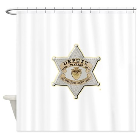 San Bernardino Sheriff Anniversary Badge Shower Cu
