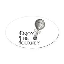 Enjoy the Journey Oval Car Magnet