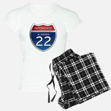 Alabama Interstate 22 Pajamas