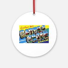 Battle Creek Michigan Greetings Ornament (Round)
