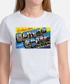 Battle Creek Michigan Greetings (Front) Tee
