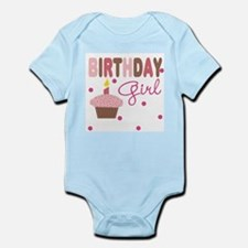 Birthday Girl Cupcake Baby Body Suit