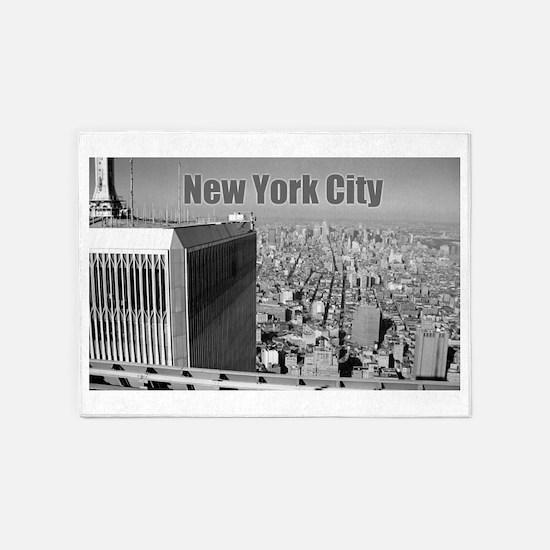 Twin Towers WTC New York City 5'x7'Area Rug