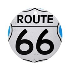 Route 66 sign Round Ornament