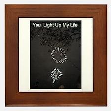 You Light Up My Life Framed Tile