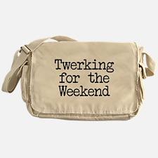 Twerking for the Weekend Canvas Messenger Bag