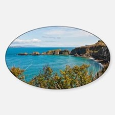 Carrick-a-Rede Rope Bridge Sticker (Oval)