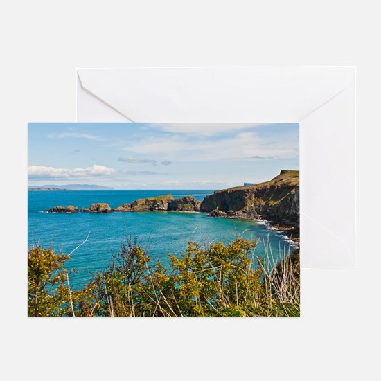 Carrick-a-Rede Rope Bridge Greeting Card