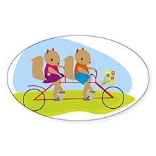 Squirrels on a Tandem Bike Decal