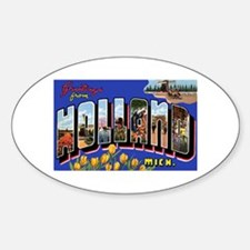 Holland Michigan Greetings Oval Decal