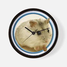 Teeny Hamster in a Circle Wall Clock
