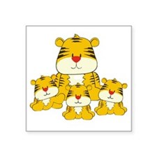 """Tiger and Cubs Square Sticker 3"""" x 3"""""""