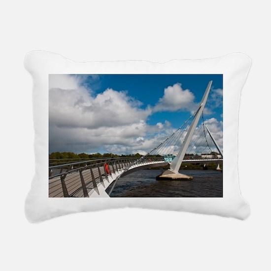 Peace Bridge Rectangular Canvas Pillow