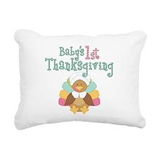 Babys 1st Thanksgiving Rectangular Canvas Pillow