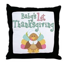 Babys 1st Thanksgiving Throw Pillow