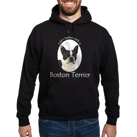 Lifes Better Boston Terrier Hoodie