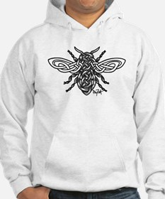 Celtic Knotwork Bee - black lines Hoodie