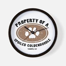 Goldendoodle dog Wall Clock
