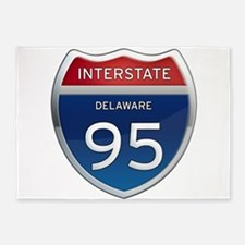 Delaware Interstate 95 5'x7'Area Rug